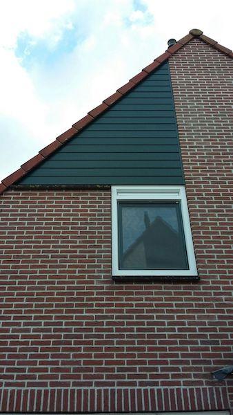 raamkozijn vervangen kunststof raamkozijn en gevelbekleding