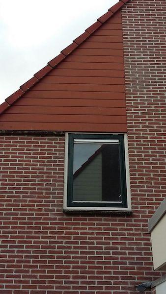 raamkozijn vervangen houten raamkozijn en gevelbekleding